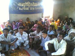 Village meeting in Bharda